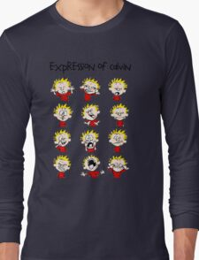 Expression of Calvin and Hobbes Long Sleeve T-Shirt