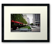 suburban plaza,too Framed Print