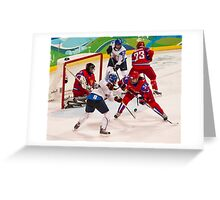 Vancouver 2010: Women's Hockey Action  Greeting Card