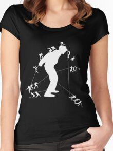 white Giants and Me Women's Fitted Scoop T-Shirt