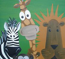 Safari Animal Friends by Kristy Spring-Brown