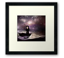 Floating through a coloured perfect world. Framed Print