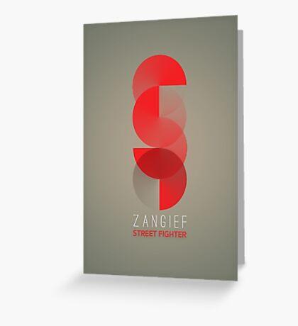 Street Fighter - Zangief Greeting Card
