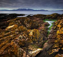 Arran from Portencross Harbour by David Mould