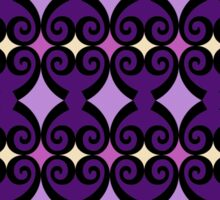 Retro curls - purple Sticker