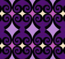 Retro curls - purple Sticker