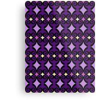 Retro curls - purple Metal Print