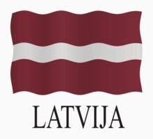 Latvia flag Baby Tee