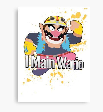 I Main Wario - Super Smash Bros. Canvas Print