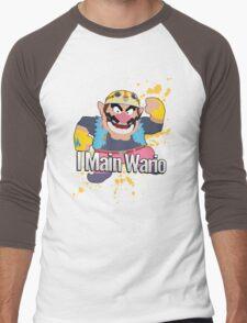 I Main Wario - Super Smash Bros. Men's Baseball ¾ T-Shirt