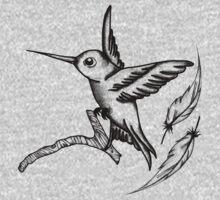 Hummingbird  One Piece - Long Sleeve