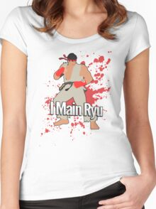 I Main Ryu - Super Smash Bros. Women's Fitted Scoop T-Shirt