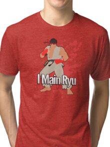 I Main Ryu - Super Smash Bros. Tri-blend T-Shirt