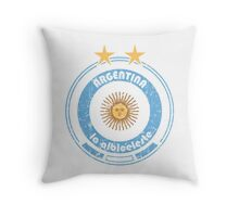 World Cup Football 5/8 - Team Argentina (distressed) Throw Pillow