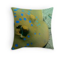 Blue spotted stingray Throw Pillow
