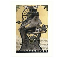 Steampunk Machinist - Sobriquette Pinion Art Print