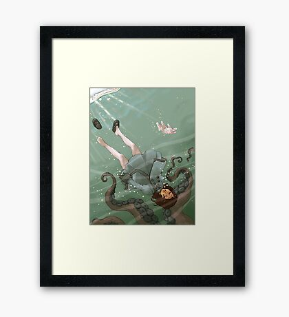 Falling, Drowning Framed Print