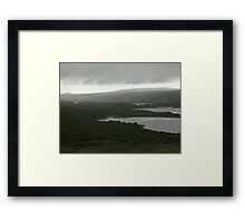 White line, dark sky Framed Print