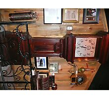 100 yr. Old Grandfather Clock & Other Antiques. Photographic Print