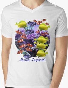 Marine Tropical Fish Mens V-Neck T-Shirt