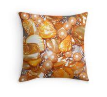 Orange Glass Beads - Sparkle Throw Pillow