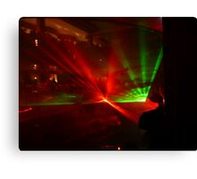 Laser Light Show in the Atrium of the Cruise Ship Pacific Dawn. Canvas Print