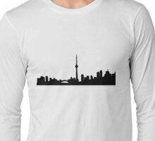 Toronto Blue Skyline Shirt Long Sleeve T-Shirt