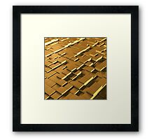 3D yellow cube's field Framed Print