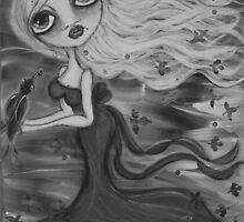 B/W Raven by Barbara Cannon  ART.. AKA Barbieville