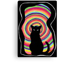 time for child stories: the BLACK CAT Canvas Print