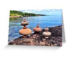 Contrast Orbs Greeting Card