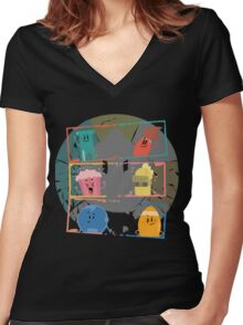 trivia crash Women's Fitted V-Neck T-Shirt