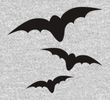 Three black bats Kids Clothes
