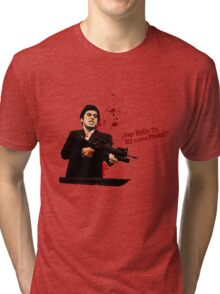 """Say Hello To My Little Friend"" - Scarface Tri-blend T-Shirt"