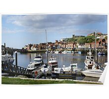 Whitby Harbour view, North Yorkshire Poster