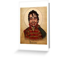 Deacon the Vampire - What We Do In The Shadows Greeting Card