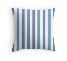 Blue and Jade and White Striped Throw Pillow Throw Pillow
