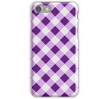 Lilac gingham iPhone Case/Skin
