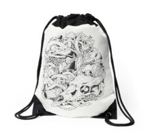 Mushroom Kingdom Drawstring Bag