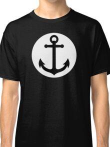 Black anchor inside white circle Classic T-Shirt