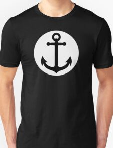 Black anchor inside white circle T-Shirt