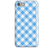 Blue Gingham iPhone Case/Skin