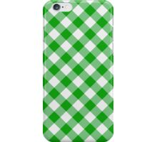 Green gingham iPhone Case/Skin