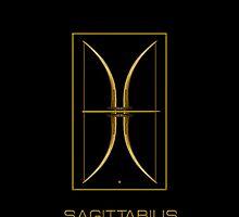 The Sagittarius Zodiac Emblem by Vy Solomatenko