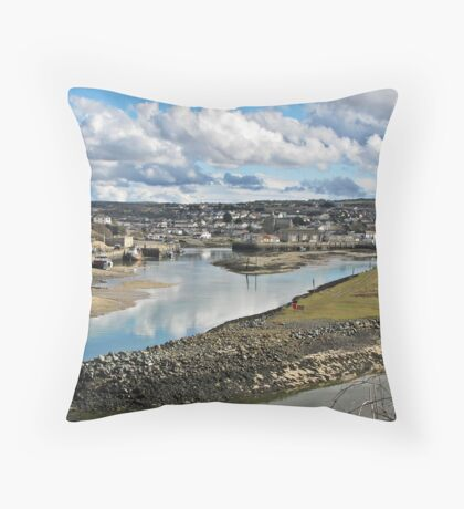 """ Cornish Harbours"" Throw Pillow"
