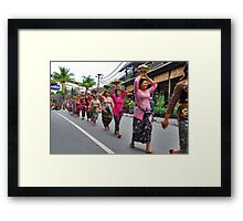 Balinese cremation ceremony Framed Print