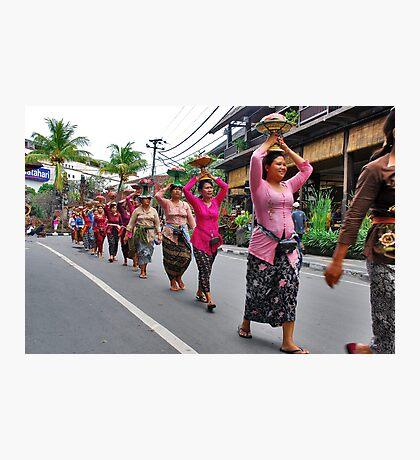 Balinese cremation ceremony Photographic Print