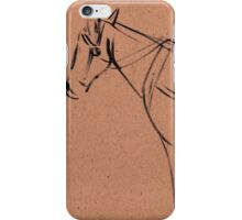 Horse sketch #1 iPhone Case/Skin