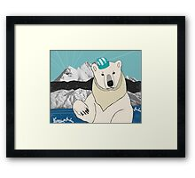 Somewhere on the North Pole Framed Print