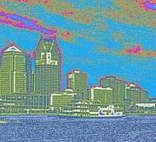 Detroit skyline by ogSuede